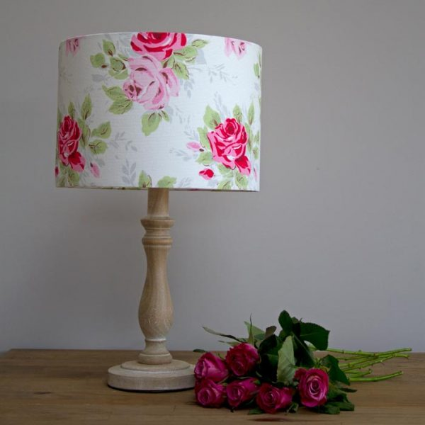 Cath Kidston English Rose handmade drum lampshade