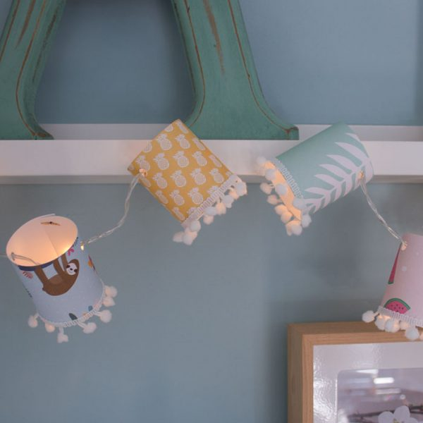 Tropical Sloth Mini Lampshades