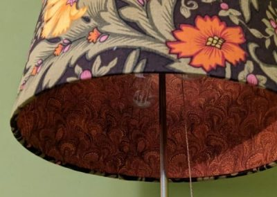 Vintage & Marble Lined lampshade