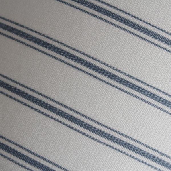 Blue Ticking Stripe Lampshade in Laura Ashley Linen - Two Little Lights - Fabric Close Up